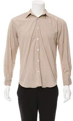 John Varvatos Striped Button-Up Shirt
