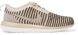 Nike - Roshe Two Flyknit Sneakers - Beige $130 thestylecure.com