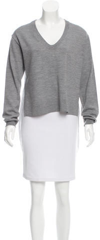 Alexander Wang T by Alexander Wang Wool Stripe-Acccented Top w/ Tags