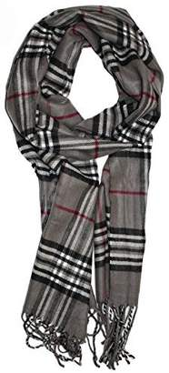 "Dolce & Gabbana Wear Soft Plaid Check Winter Scarf Warm Oblong 12""x72"" Fringe Unisex"