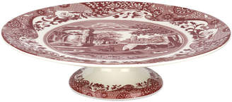 Spode Cranberry Italian Footed Cake Plate