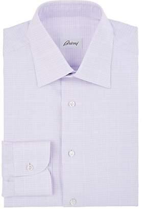 Brioni Men's Checked Cotton Poplin Dress Shirt - Lt. Purple