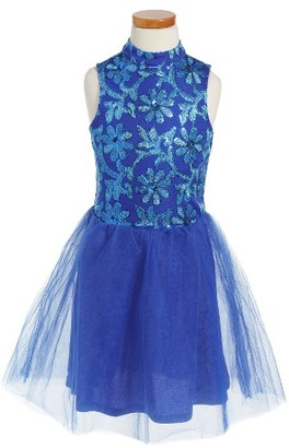Girl's Penelope Tree Grace Embroidered Tulle Dress $54 thestylecure.com