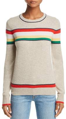 Aqua Striped Cashmere Sweater - 100% Exclusive