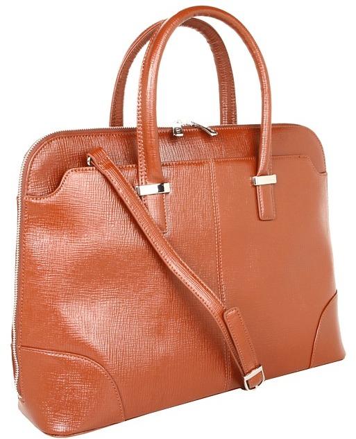 Knomo Berkeley - Rubi Dome Zip Top 15 (Cognac) - Bags and Luggage