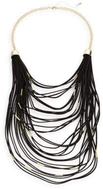 Saks Fifth Avenue Faux Suede Multi-Layered Necklace