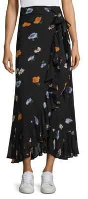 Ganni Dainty Georgette Wrap Skirt