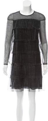 Valentino Beaded Mesh Dress