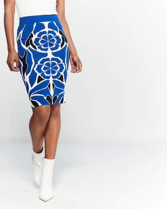 Alexander McQueen Floral Pencil Skirt