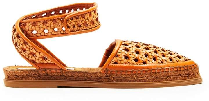 STELLA MCCARTNEY Woven-wicker espadrille sandals