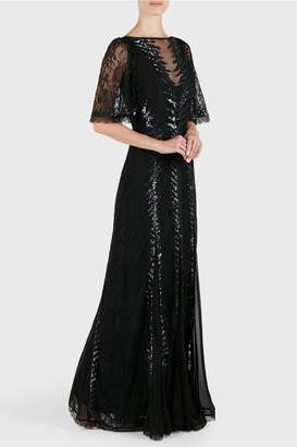 Temperley London Panther Long Fitted Dress