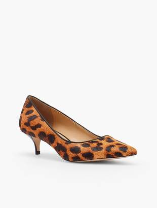 Talbots Sylvie Kitten-Heel Pumps - Haircalf Leopard-Print