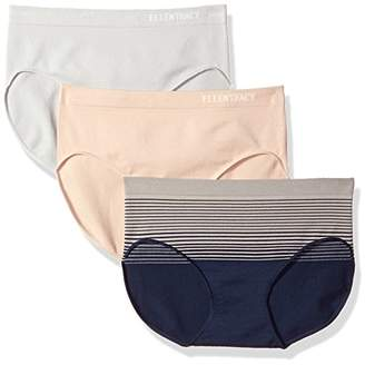 Ellen Tracy Women's 3 Pack Seamless Gradient Hipster Panty