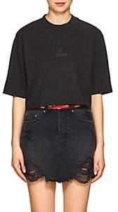 "Ksubi Women's ""Hi Society"" Cotton Crop T-Shirt - Black"