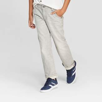 Cat & Jack Boys' Spirited Straight Jeans Gray
