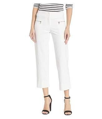Elliott Lauren Premium Performance Stretch Crop Pants with Zipper Pocket Details