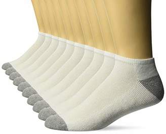 Amazon Essentials Men's 10-Pack Cotton Cushioned Low-Cut Socks