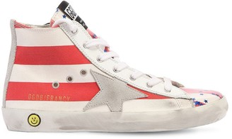 Golden Goose Francy Stars Canvas High Top Sneakers