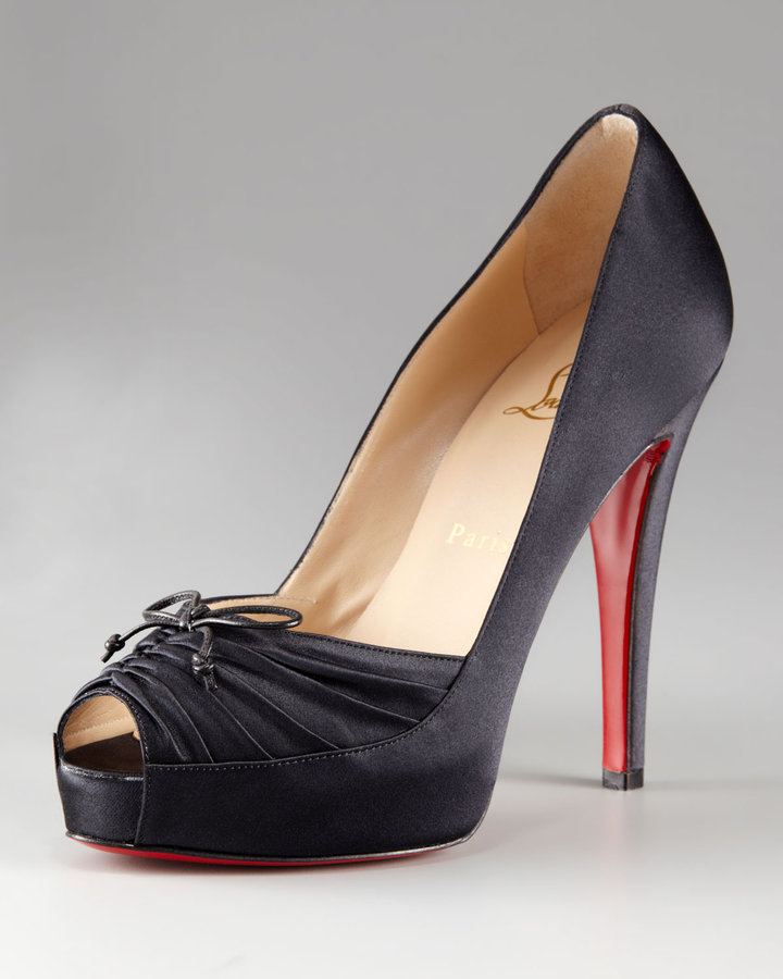 Christian Louboutin Very Pli Ruched Platform Pump, Black