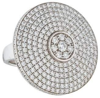 Piaget 18K Pavé Diamond Disc Ring