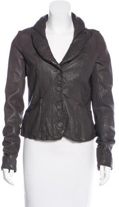AllSaints Shawl Collared Leather Jacket $175 thestylecure.com