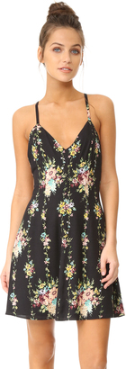 alice + olivia Alves Cross Back Flare Dress $250 thestylecure.com