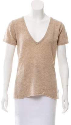 Zadig & Voltaire Short Sleeve Cashmere Top