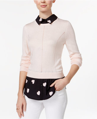 Maison Jules Printed Layered-Look Top, Only at Macy's $79.50 thestylecure.com