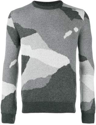 Woolrich camouflage knit sweater