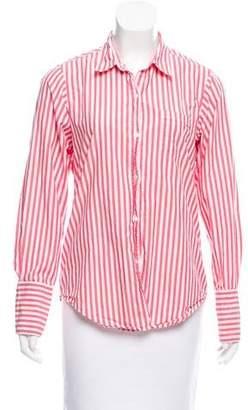 Nili Lotan Stripe Print Button-Up Top
