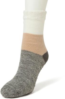 Dearfoams Women's Striped Cabin Slipper Socks