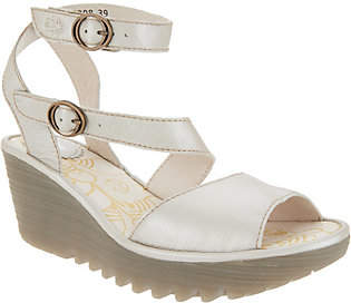 Fly London Leather Multi-Strap Wedge Sandals -Yisk