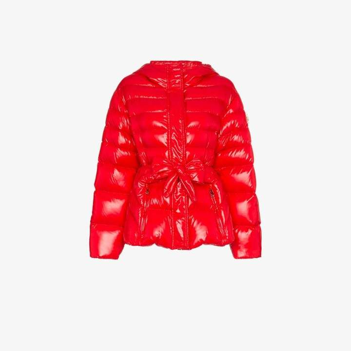 Moncler Genius X lolly bow front puffer jacket