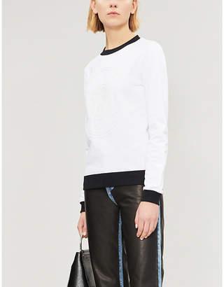 Versace Logo-embossed cotton-jersey sweatshirt