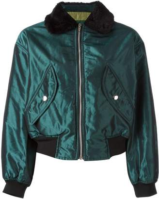 Jean Paul Gaultier Pre-Owned shiny bomber jacket