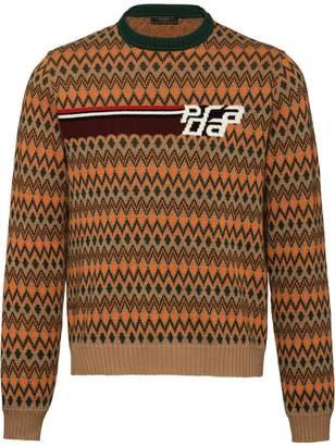 Prada chevron pattern sweater