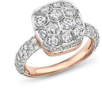 Pomellato Nudo Ring with Diamonds in 18K White & Rose Gold