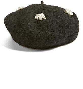 Berry Faux Pearl Beret $34 thestylecure.com