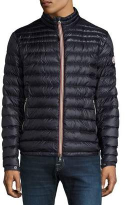 Moncler Daniel Quilted Puffer Jacket, Navy $850 thestylecure.com