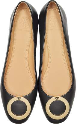 Tory Burch Caterina Perfect Black Leather Flat Ballerinas