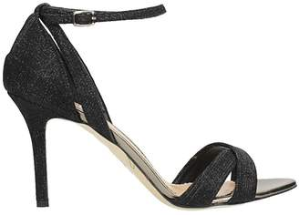 The Seller Black Lurex Sandals