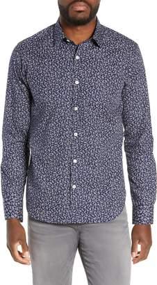 Jeff Gig Harbor Slim Fit Floral Print Sport Shirt