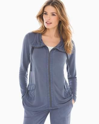 Mineral Wash Jacket Anchor Gray