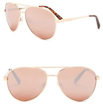 Steve Madden 62mm Aviator Sunglasses