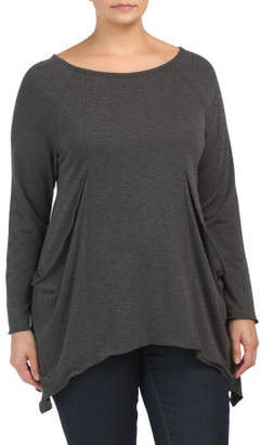 Plus Made In Usa French Terry Tunic