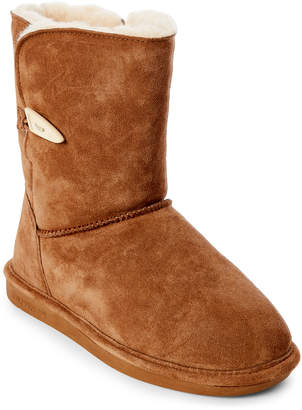 BearPaw Hickory Victorian Real Fur Short Boots