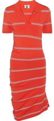 Topshop Margot Asymmetric Striped Stretch-Knit Dress
