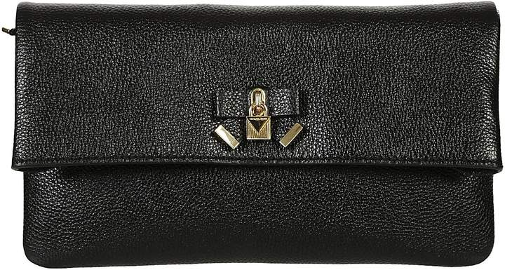 Michael Kors Everly Clutch - BLACK - STYLE