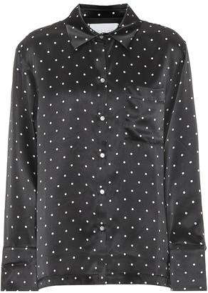 Asceno Dotted silk pajama top
