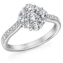 Bloomingdale's Diamond Flower Cluster Ring in 14K White Gold, 1.0 ct. t.w. - 100% Exclusive